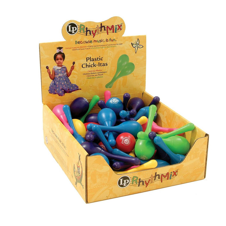LP Rhythmix Plastic Chickitas 36 Pcs Asst. Colors (LPR011BD36-I)
