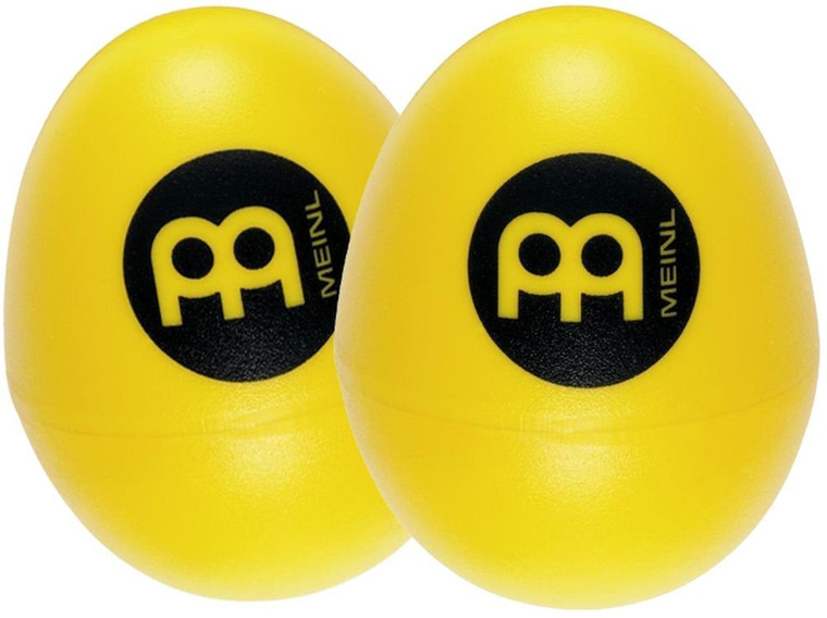Meinl Set of Two Plastic Egg Shakers, Yellow (ES2-Y)