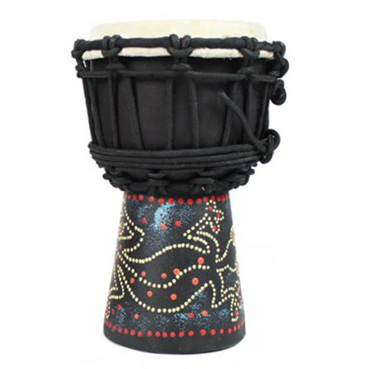 """Toca Freestyle Rope Tuned 4"""" Mini Djembe, Painted Gecko"""