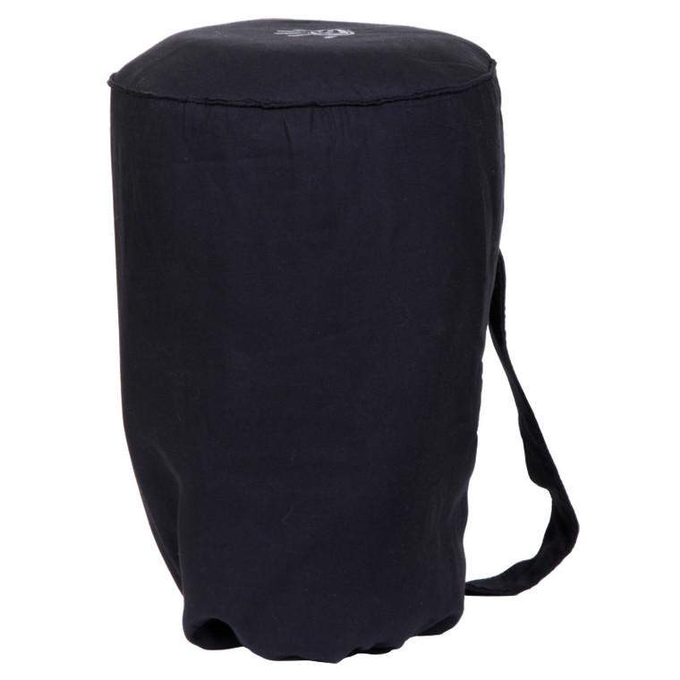 Large Djembe Tote Bag - Black Padded Cotton (For 10x20 Djembes)