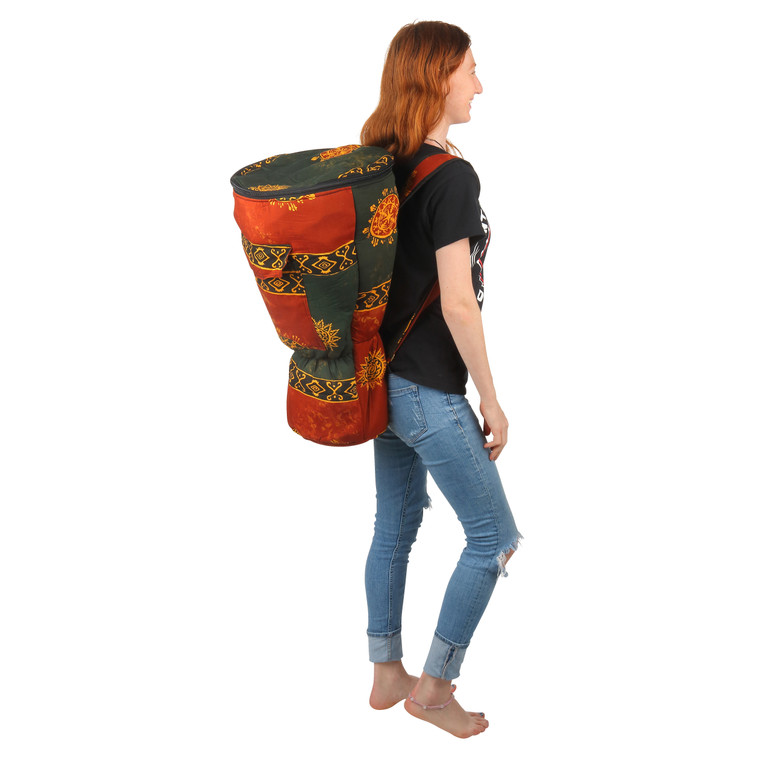 XL Djembe Drum Backpack, Chocolate Celestial Design (For 12x24 Djembes)