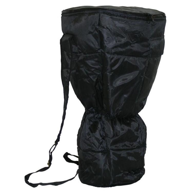 Large Waterproof Djembe Bag, Padded Black Nylon (For 10x20 Djembes)