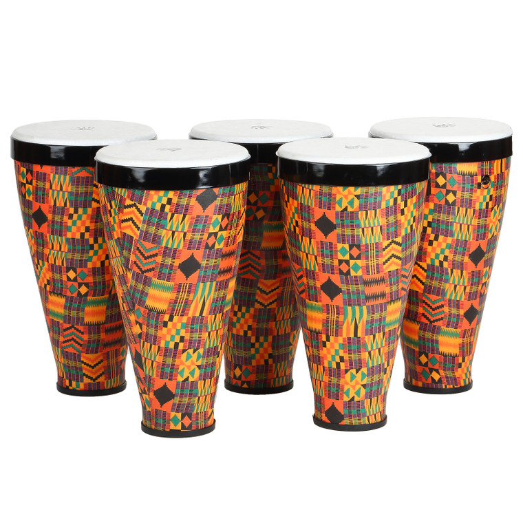 X8 Drums Stacking Hand Drums with Straps, 5-Pack Small