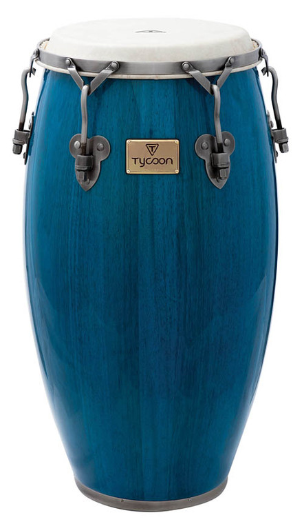 Tycoon Percussion Signature Classic Series Conga with Stand, Blue