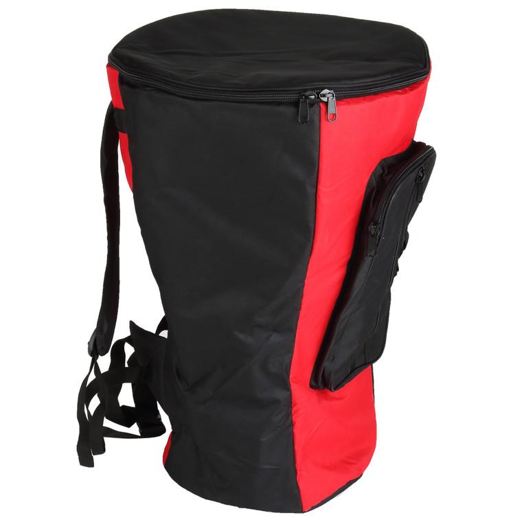 XXXL Heavy Duty Djembe Bag, Red/Black (For 16x27 Djembes)