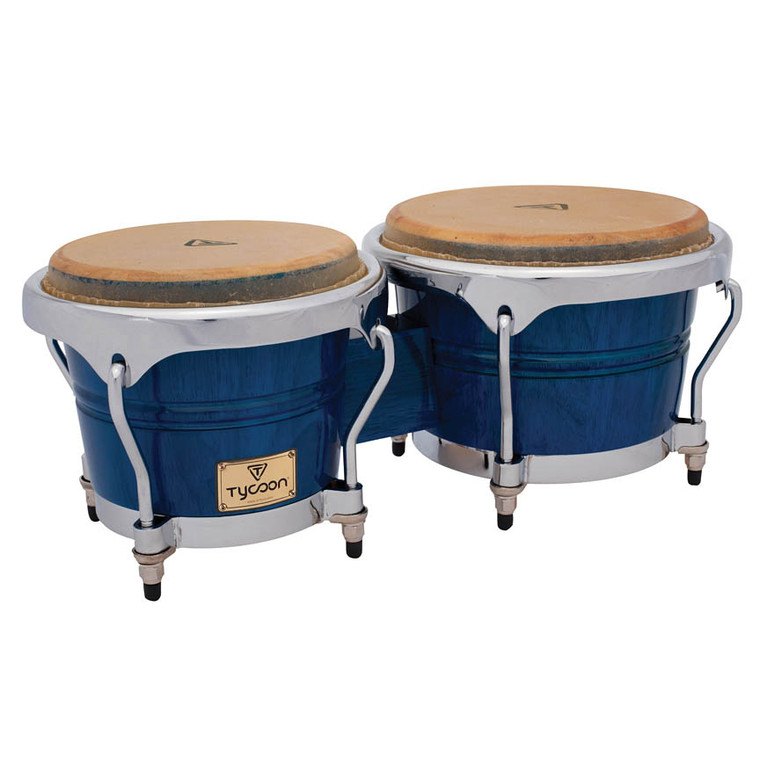 Tycoon Percussion Concerto Series Blue Finish Bongos