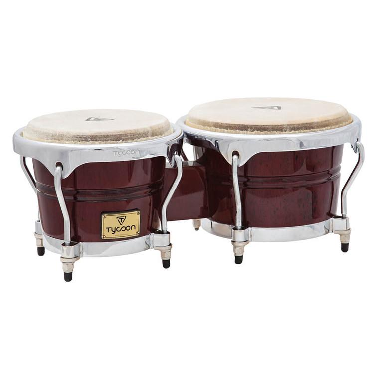 Tycoon Percussion Concerto Series Mahogany Finish Bongos