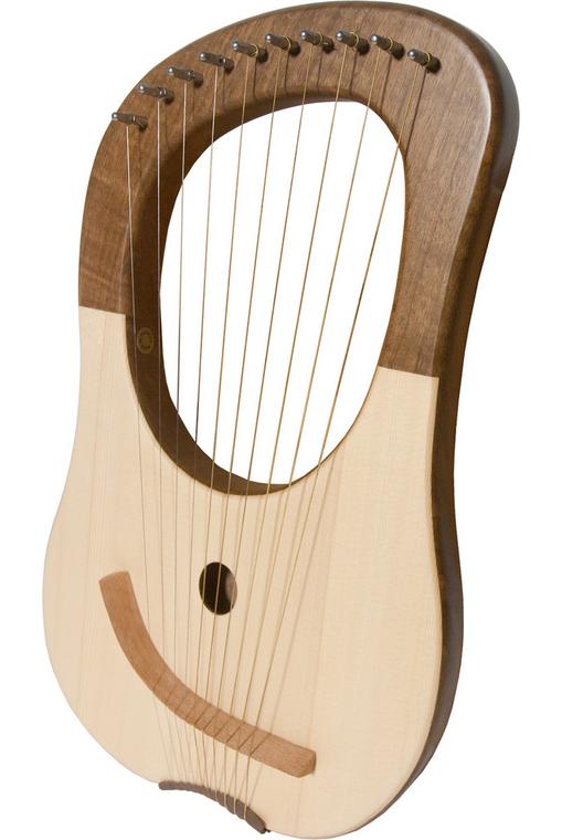 Mid-East Lyre Harp 10-String - Walnut