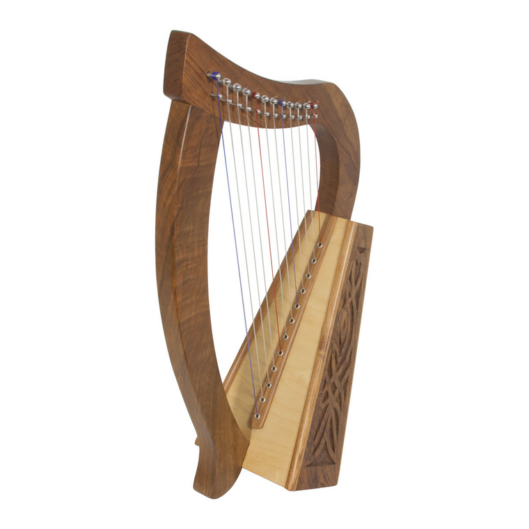 Roosebeck Baby Harp 12-String Knotwork - Walnut