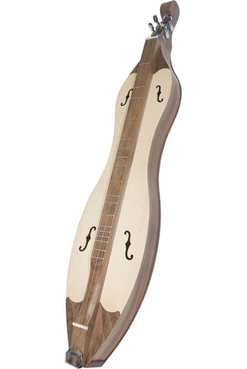 Roosebeck Grace Mountain Dulcimer 4-String Vaulted Fretboard Spruce F-Holes - Walnut