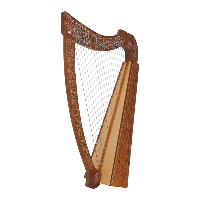 Roosebeck Heather Harp 22-String Chelby Levers Knotwork