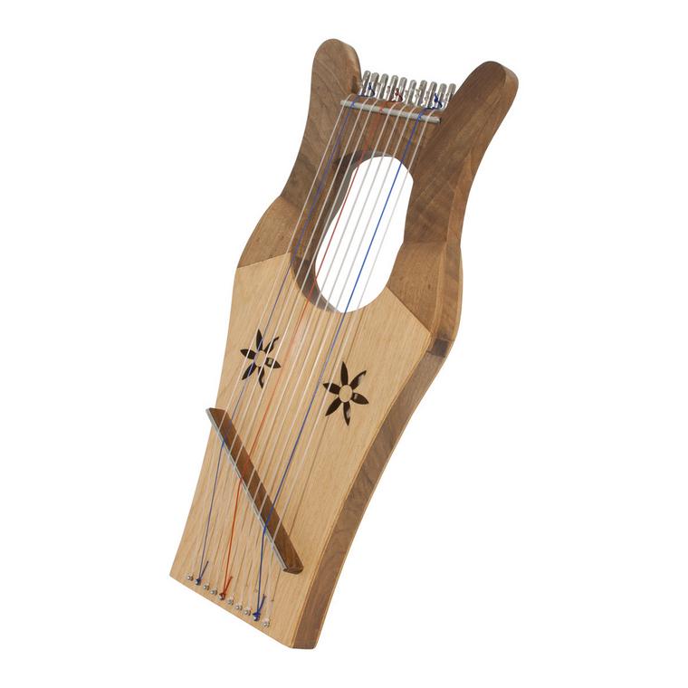 Mid-East Mini Kinnor Harp - Light - Walnut