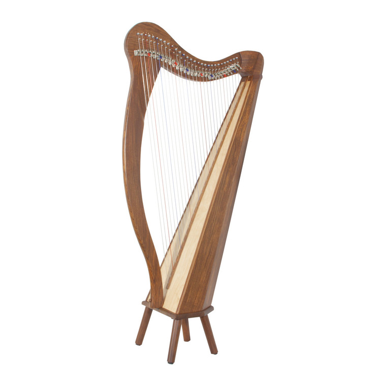 Roosebeck Minstrel Harp 29-String, Chelby Levers Sheesham 5 Panel With Pedestal