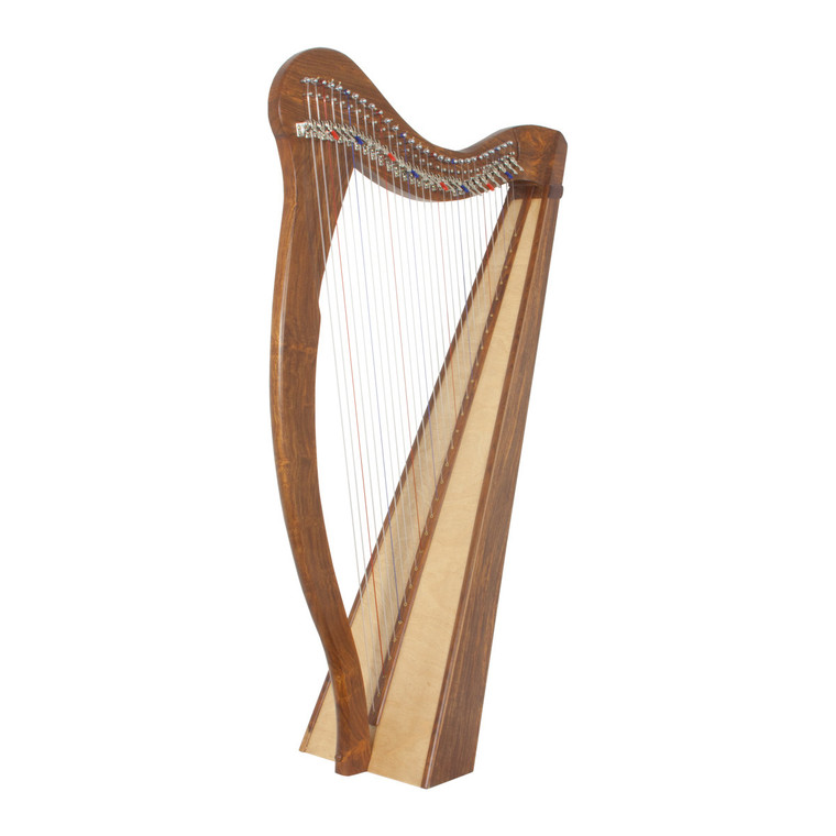 Roosebeck Minstrel Harp 29-String, Chelby Levers Sheesham 5 Panel