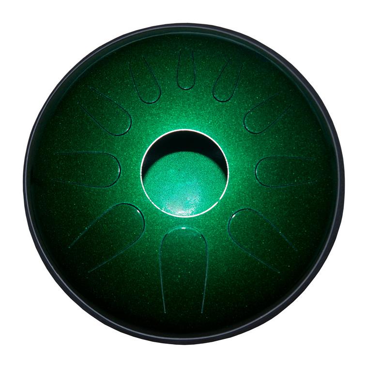 Idiopan Dominus 14-Inch Tunable Steel Tongue Drum - Emerald Green