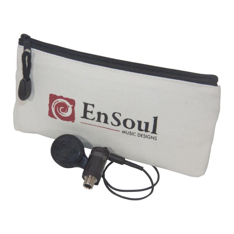 EnSoul Pan Pickup Non-HPF Mountable 1/4-Inch Jack 12-Inch Lead