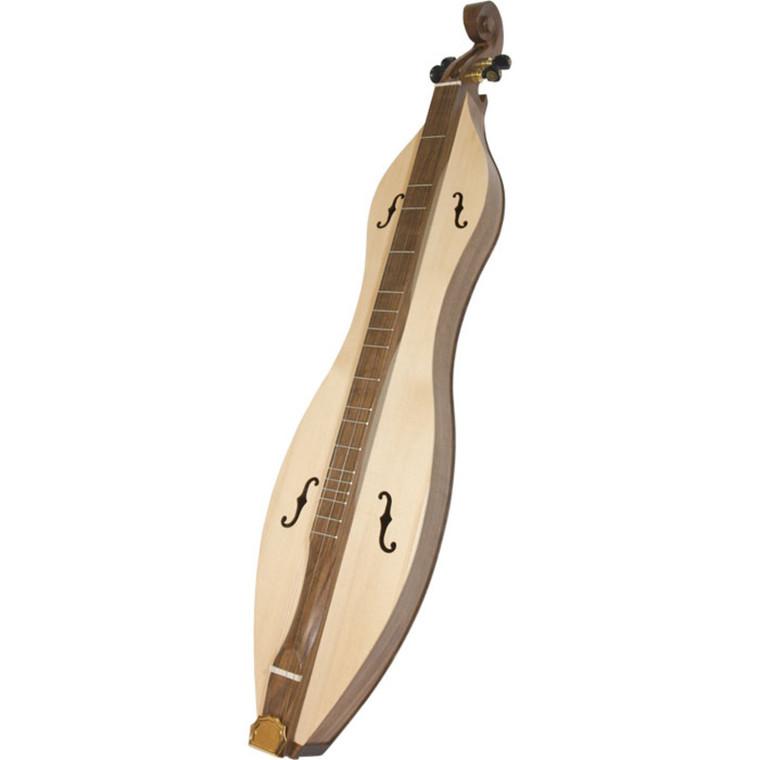 Roosebeck Emma Mountain Dulcimer 4-String Vaulted Fretboard Spruce F-Holes - Walnut