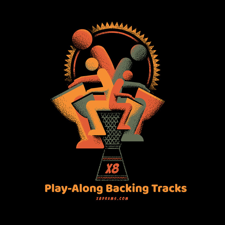Audio Track: Danza Djun & 2 Djembes Rhythm Pattern 2 Play-Along Backing Tracks