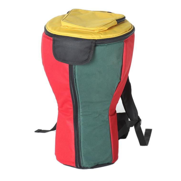 Large Heavy Duty Djembe Bag, Rasta (For 10x20 Djembes)