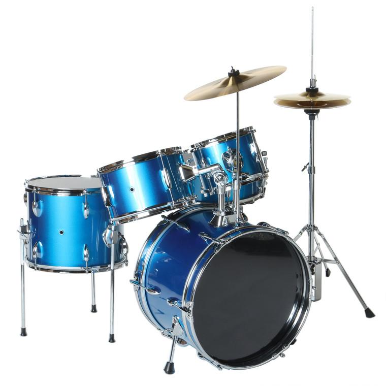 X8 Drums 5-Pc Junior Drum Set, Blue