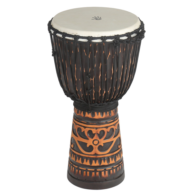Deep Carve Antique Chocolate Djembe Drum, 12 in.