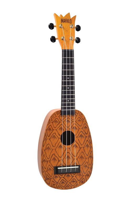 Mahalo ME1-P Pineapple Soprano Ukulele. Laser Engraved