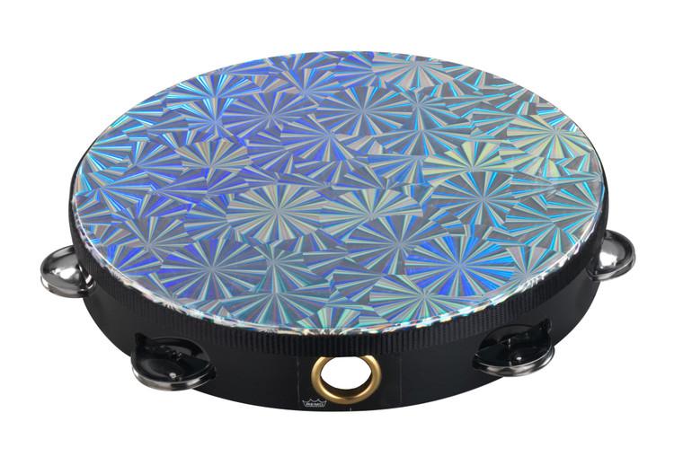Remo TA-4110-43 Prizmatic Tambourine,  10in, One Row, Chrome