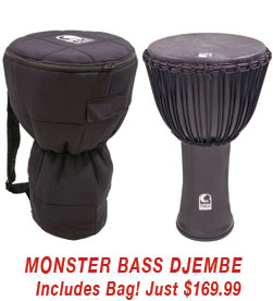 Toca Black Mamba Big Bass Djembe