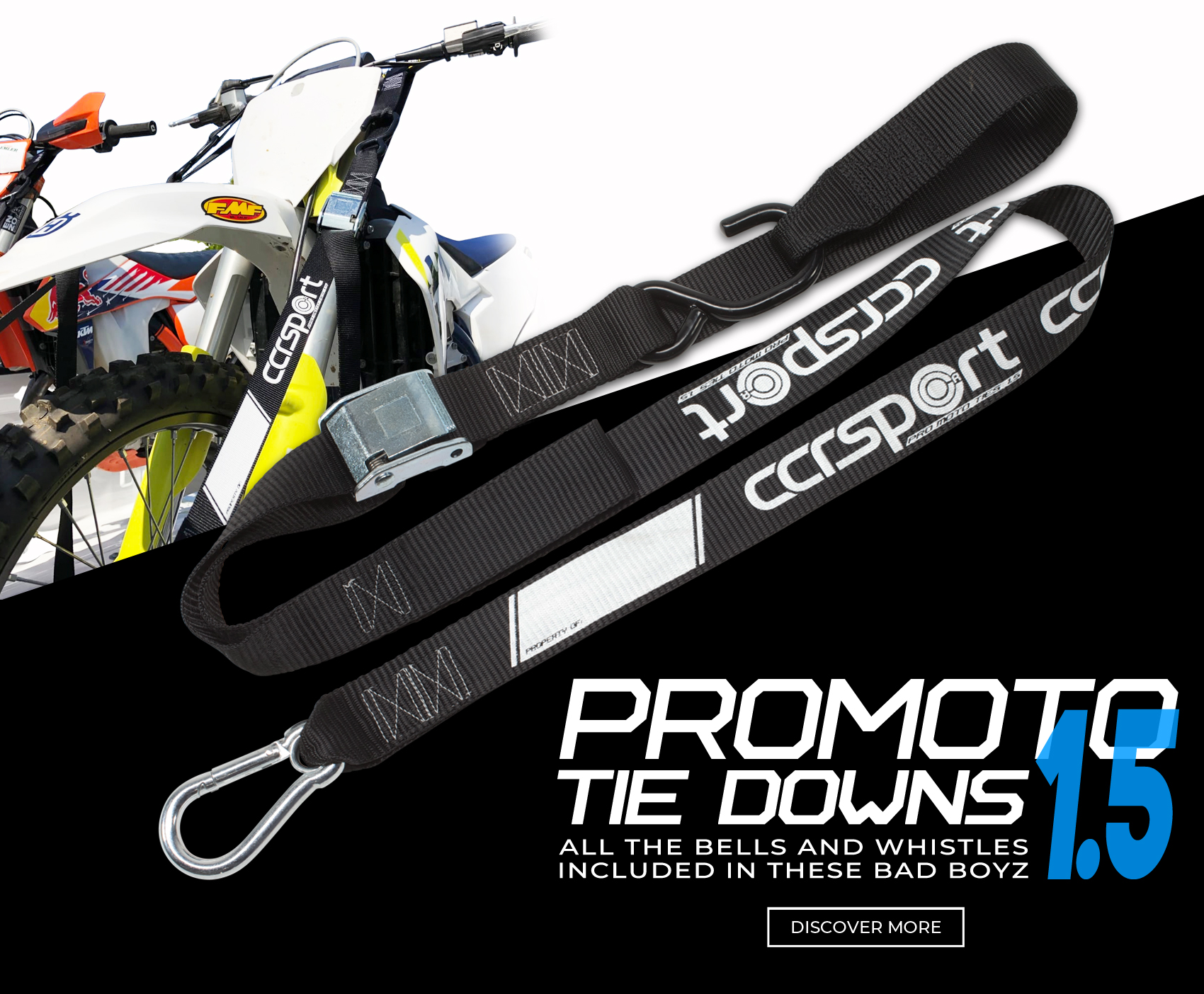 Pro Moto motorcycle tie downs are the best straps money can buy and made in America.