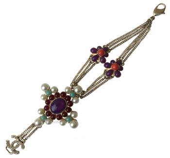 Chanel Indian Inspired Poured Glass Chain Bracelet