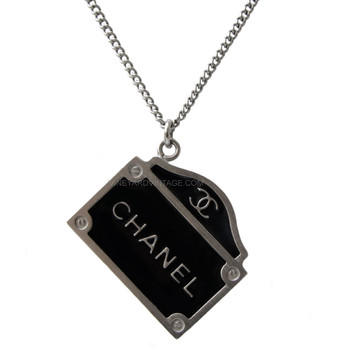 Chanel Paris 31 Rue Cambon Double-Sided Sign Necklace