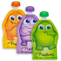 Little Mashies Reusable Food Pouches - 10 Pack Mixed