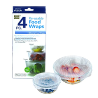 Reusable Silicone Food Wraps - 4 Pack