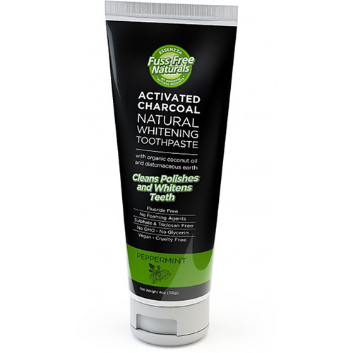 Charcoal Natural Whitening Toothpaste   - Peppermint