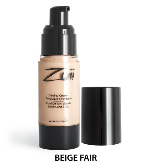 Zuii Flora Liquid Foundation - Beige Fair