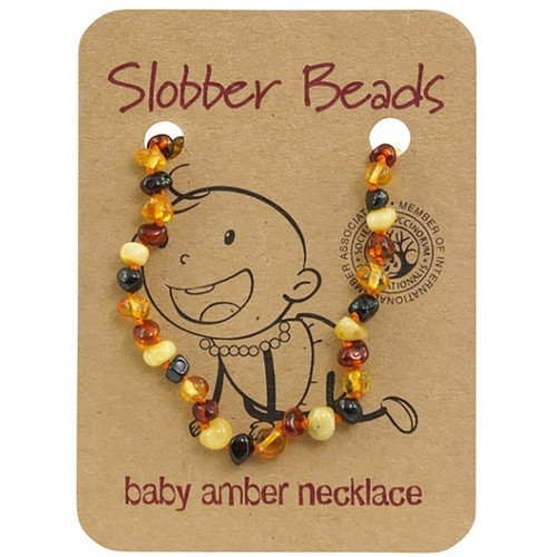 Slobber Beads Baby Baltic Amber Necklace - Multi Round