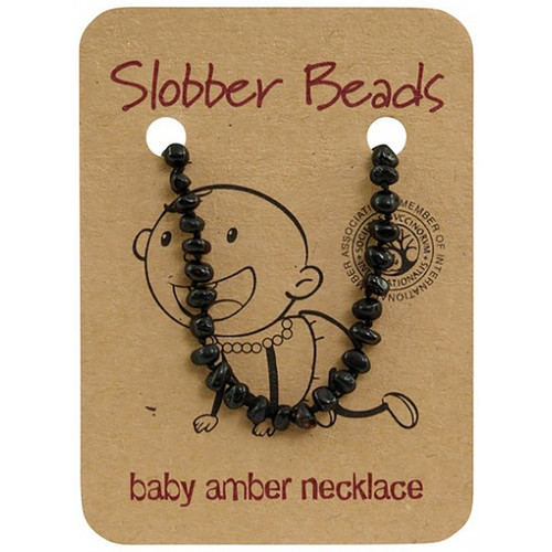 Slobber Beads Baby Baltic Amber Necklace - Cherry Round