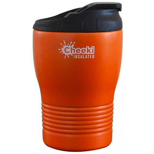 Cheeki Stainless Steel Insulated Coffee Cup Orange - 240ml