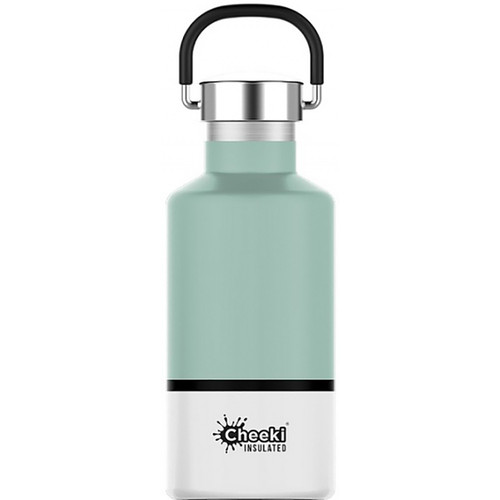 Cheeki Classic Stainless Steel Insulated Pistachio White Bottle - 400ml