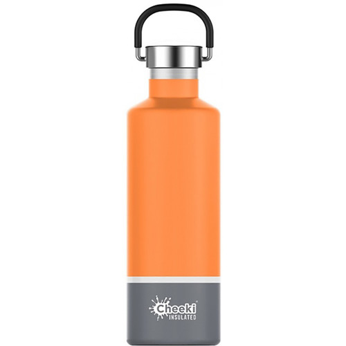 Cheeki Classic Stainless Steel Insulated Bottle 600ml - Orange & Grey