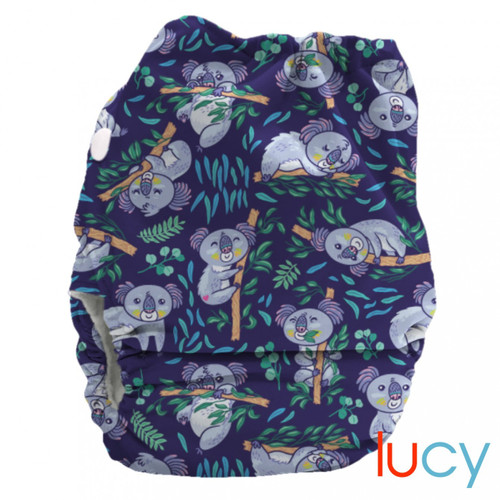 Bubblebubs Candies - Lucy (Koalas) Minky Candie All in Two Complete Nappy