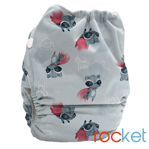 Bubblebubs Candies - Rocky (Racoon) Minky Candie All in Two Complete Nappy (Rocky Minky)
