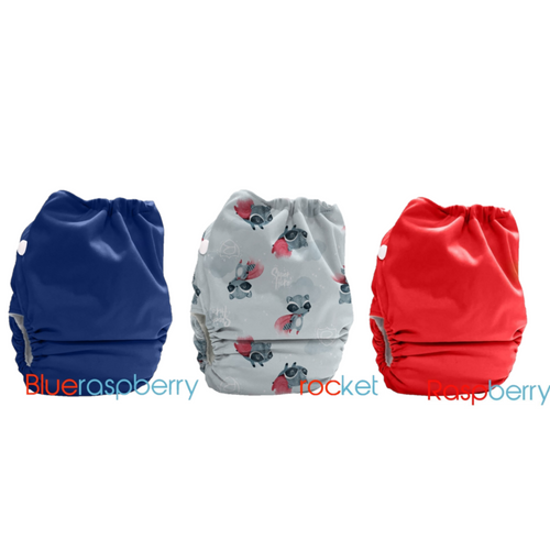 Bubblebubs Candies Pack of 3 - Raspberry, Rocky (Racoon), Blue Raspberry