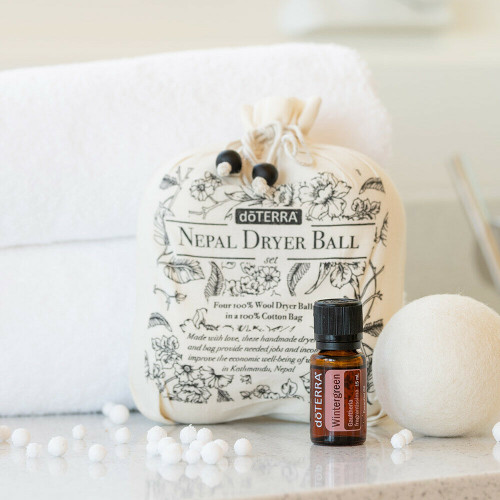 Doterra Nepal Dryer Balls - Set of 4 with Wintergreen Essential Oil 15ml