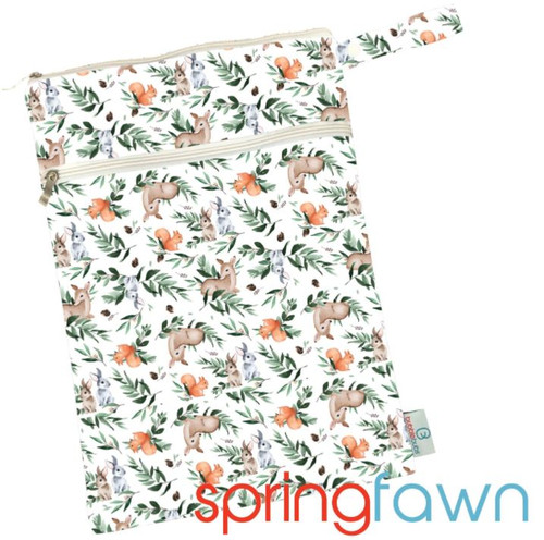 Spring Fawn Minky Double Pocket Wetbag