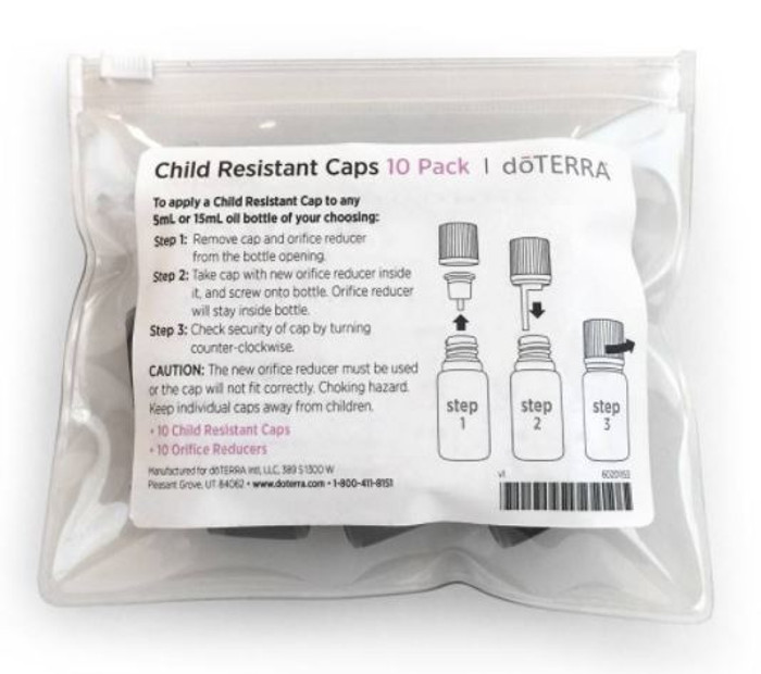 doTERRA Child Resistant Caps & Orifice Reducers for Essential Oil 5ml & 15ml