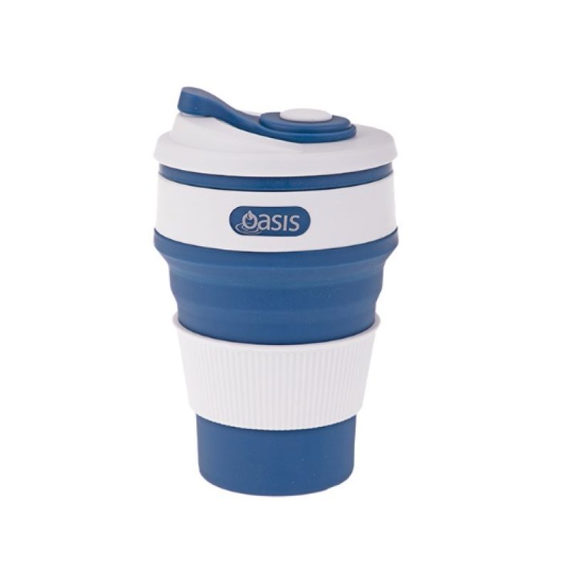 Blue Collapsible Coffee Cup