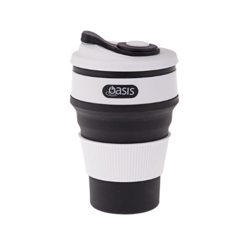 Black Collapsible Coffee Cup