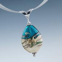 Aegean & Ivory Swirl Pendant