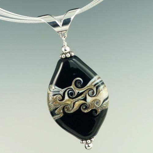 Classic Black Swirl Pendant